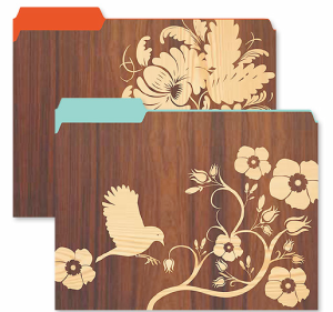 Larks & Flowers Veneer Folders