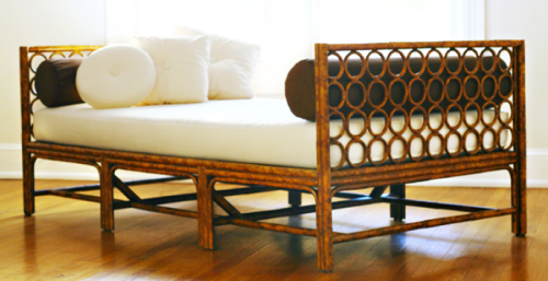 This ultra hip day bed is from Carol Gregg for red egg.