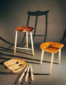 The Owl Stool by Geoffrey Warner Studio.