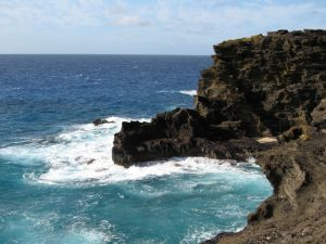 Photo of Hawaiian wind & water courtesy Scott Morgan 2008.