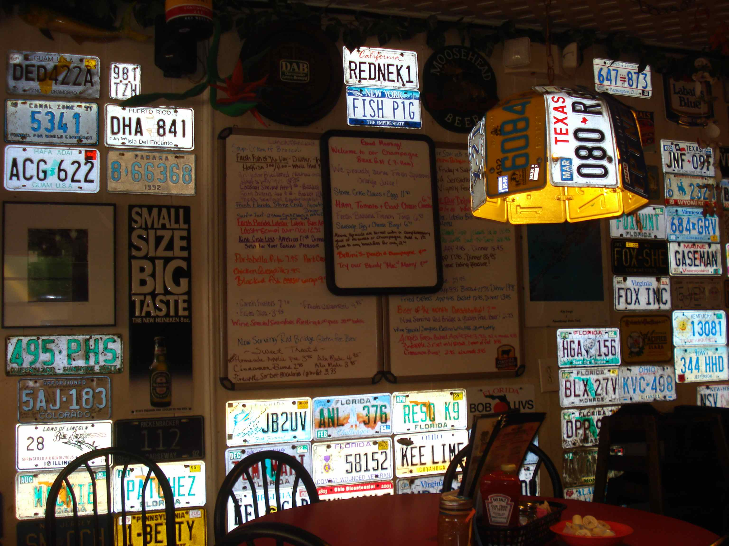 license plates are even used to create unusual lampshades at mrs macs kitchen - Mrs Macs Kitchen